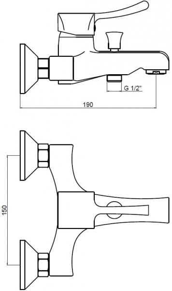 KAISER Verona 29044  Смеситель для ванны однорычажный  - 1