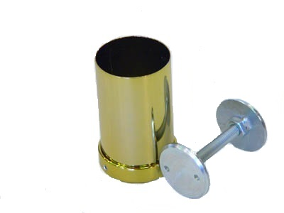 Верхнее крепление для барной трубы золото - 1