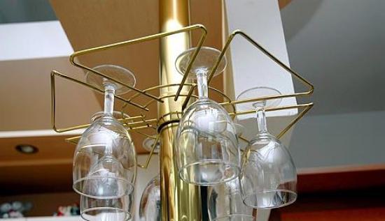 Полка для бокалов звездочка на барную стойку золото - 2