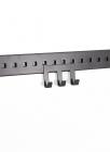 Крючок тройной на рейлинг 100 мм черный бархат - 2540