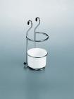 Стакан (пластик) для столовых приборов на рейлинги матовый хром Kessebohmer (Германия) - 2608