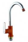 Смеситель для кухни с гайкой (оранжевый/хром) Frap 4032 - 2803