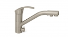 Смеситель для кухни с переключением на питьевую воду в цвете нержавеющая сталь Frap 4321-5 - 2820