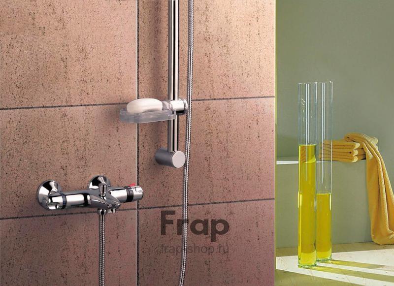 Смеситель для ванны с термостатом, с двумя рукоятками  Frap 3051 - 3