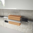Держатель для ножей вертикальный на рейлинги модерн нержавеющая сталь Barra Lemi - 2890