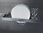 Полка для посуды на рейлинги модерн нержавеющая сталь Barra Lemi - 2896