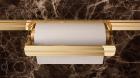Держатель для бумажных полотенец на рейлинги модерн с отделкой золото с кристаллами Swarovski Barra Lemi - 2906