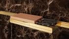 Держатель для ножей на рейлинги модерн с отделкой золото с кристаллами Swarovski Barra Lemi - 2908