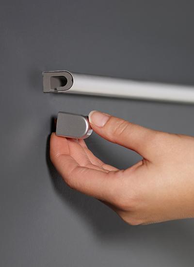 Рейлинг для кухни 90 см модерн нержавеющая сталь Linero 2000 Kessebohmer - 1