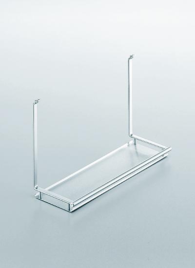 Полка одинарная на рейлинги модерн нержавеющая сталь Linero 2000 Kessebohmer - 2
