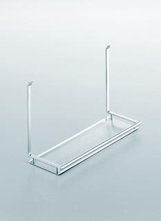 Полка одинарная на рейлинги модерн нержавеющая сталь Linero 2000 Kessebohmer