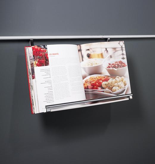 Полка для книг на рейлинги модерн нержавеющая сталь Linero 2000 Kessebohmer - 1