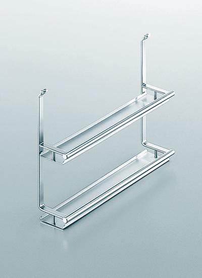 Полка двойная для специй на рейлинги модерн нержавеющая сталь Linero 2000 Kessebohmer - 2