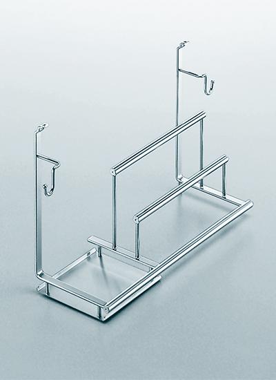 Полка многофункциональная на рейлинги модерн нержавеющая сталь Linero 2000 Kessebohmer - 2