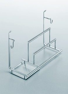 Полка многофункциональная на рейлинги модерн нержавеющая сталь Linero 2000 Kessebohmer
