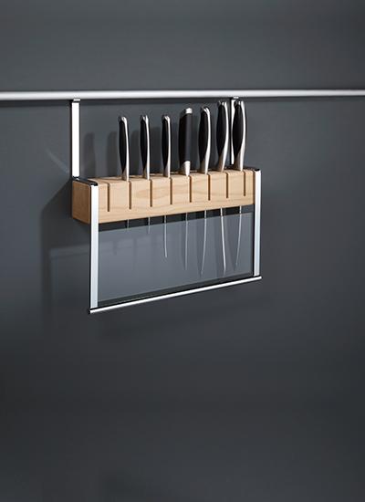 Держатель для ножей на рейлинги модерн нержавеющая сталь Linero 2000 Kessebohmer - 1