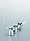 Полка с тремя стаканами на рейлинги модерн нержавеющая сталь Linero 2000 Kessebohmer - 2935