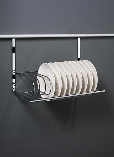 Сушка для посуды на рейлинги модерн хром матовый Linero 2000 Kessebohmer - 1