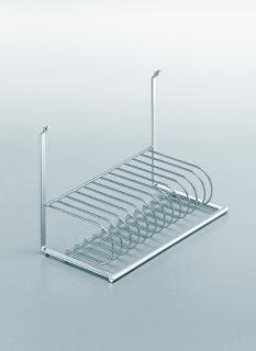 Сушка для посуды на рейлинги модерн хром матовый Linero 2000 Kessebohmer