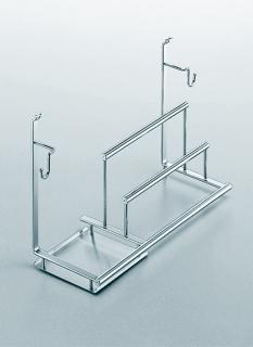 Полка многофункциональная на рейлинги модерн хром матовый Linero 2000 Kessebohmer