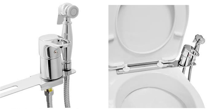 Смеситель с гигиеническим душем на унитаз Frap F1221-2 - 2