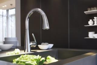 Смеситель для кухонной моойки с выдвижным душем Grohe Zedra  - 3011