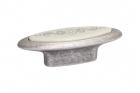 Ручка кнопка 32 мм, отделка серебро античное и вставка Mobilclan (Италия) - 3057