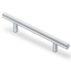 Ручка рейлинг 192 х 12 мм, отделкам матовый хром - 3076