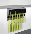 Держатель для ножей магнитный, пластик на рейлинги модерн серый титан Mosaiq. Kessebohmer (Германия) - 3185