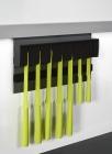 Держатель для ножей магнитный, пластик на рейлинги модерн черный графит Mosaiq. Kessebohmer (Германия) - 3218