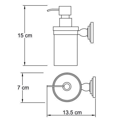 Дозатор для жидкого мыла, 150 ml,  Isar K-7300 Wasserkraft  - 1