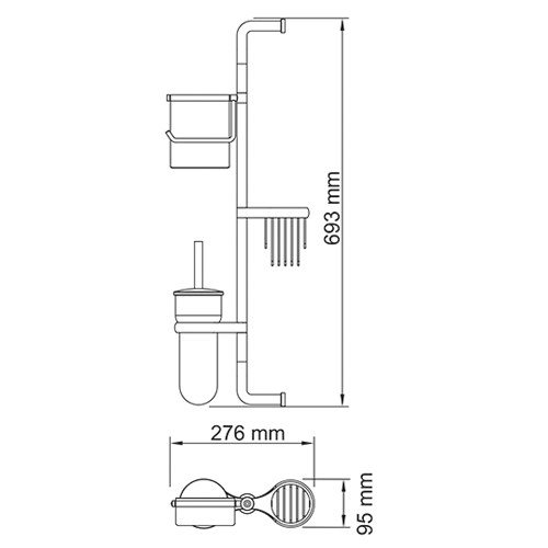 Комбинированная настенная стойка Isar K-7300 Wasserkraft - 1