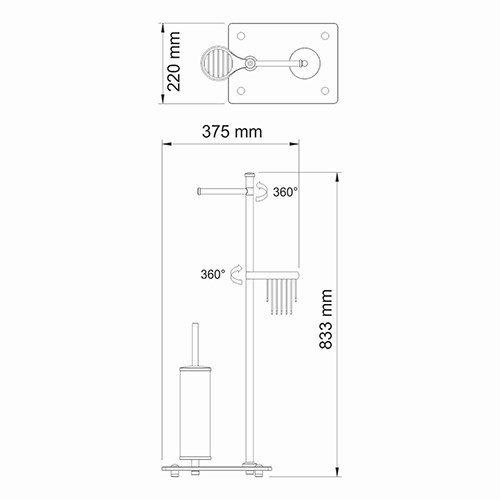 Комбинированная напольная стойка Wasserkraft - 1