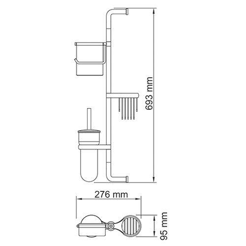 Комбинированная настенная стойка Wasserkraft - 3