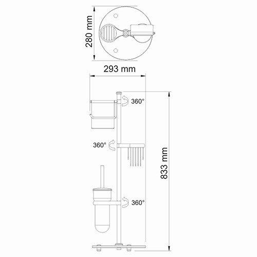 Комбинированная напольная стойка Wasserkraft - 3