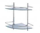 Полка стеклянная двойная угловая Wasserkraft - 3368