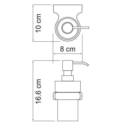 Дозатор для жидкого мыла стеклянный, 200 ml  Berkel К-6800 Wasserkraft - 3
