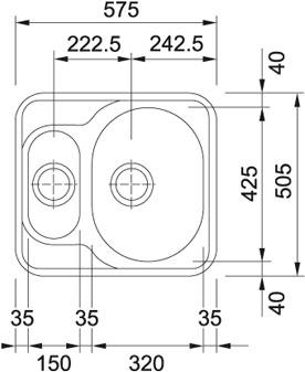 Мойка Franke MIKADO MON 660, ширина 60 см. (Германия) - 1